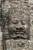 Πέτρινο πρόσωπο στο ναό Bayon, Angkor Wat, Καμπότζη Στοκ φωτογραφίες με δικαίωμα ελεύθερης χρήσης