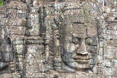 Πέτρινο πρόσωπο στο ναό Bayon, Angkor Wat, Καμπότζη Στοκ Φωτογραφίες
