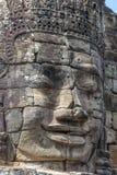 Πέτρινο πρόσωπο στο ναό Bayon, Angkor Wat, Καμπότζη Στοκ Εικόνες