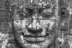 Πέτρινο πρόσωπο στο ναό Bayon, Angkor Wat, Καμπότζη Στοκ εικόνα με δικαίωμα ελεύθερης χρήσης