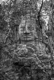 Πέτρινο πρόσωπο στο ναό Bayon, Angkor Wat, Καμπότζη Στοκ φωτογραφία με δικαίωμα ελεύθερης χρήσης