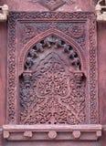 Πέτρινο σχέδιο σε έναν τοίχο στο κόκκινο οχυρό, Agra Στοκ φωτογραφία με δικαίωμα ελεύθερης χρήσης