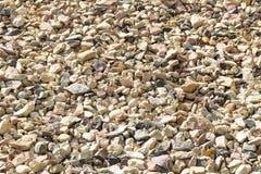 Πέτρινο υπόβαθρο, σύσταση πετρών χαλικιών, πολύχρωμο υπόβαθρο πετρών Στοκ Φωτογραφία