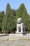 Πέτρινο kylin χάραξης στους ανατολικούς βασιλικούς τάφους της Qing Dynas Στοκ εικόνα με δικαίωμα ελεύθερης χρήσης