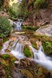 Πέφτει απότομα d'Akchour, εθνικό πάρκο Talassemtane, βουνά Rif, Μ Στοκ Φωτογραφίες