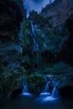 Πέφτει απότομα d'Akchour τη νύχτα, εθνικό πάρκο Talassemtane, Μαρόκο Στοκ φωτογραφία με δικαίωμα ελεύθερης χρήσης