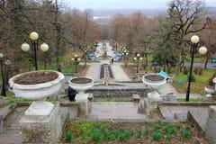 Πέφτοντας απότομα σκάλα και το πάρκο Στοκ εικόνες με δικαίωμα ελεύθερης χρήσης