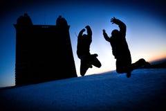 πήδημα κάστρων Στοκ εικόνες με δικαίωμα ελεύθερης χρήσης