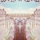Σιδηρόδρομος της Μόσχας Στοκ Εικόνες