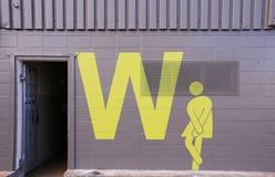 Πήρε να πάει (λογότυπο τουαλετών γυναικών) Στοκ Φωτογραφία