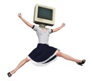 Πήδημα Woohoo της απεικόνισης χαράς Στοκ φωτογραφία με δικαίωμα ελεύθερης χρήσης