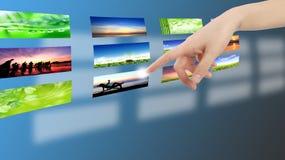 πίεση εικονιδίων χεριών κ&omi Στοκ φωτογραφία με δικαίωμα ελεύθερης χρήσης