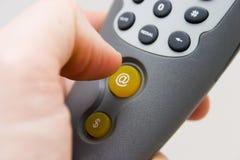 πίεση κουμπιών Στοκ Φωτογραφίες