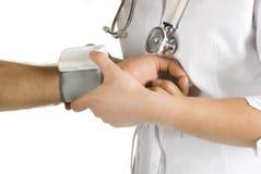 πίεση μέτρησης αίματος Στοκ Εικόνες