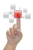 πίεση χεριών κουμπιών Στοκ εικόνα με δικαίωμα ελεύθερης χρήσης