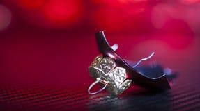 Πίεση Χριστουγέννων στο κόκκινο Στοκ Φωτογραφίες
