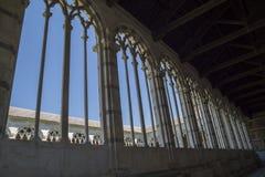 Πίζα - γοτθικά παράθυρα στο μνημειακό νεκροταφείο Στοκ Εικόνες
