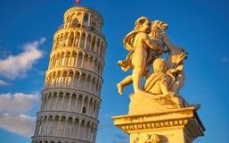 Πίζα Ιταλία, ο κλίνοντας πύργος της Πίζας Στοκ φωτογραφίες με δικαίωμα ελεύθερης χρήσης