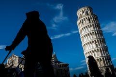 Πίζα, Ιταλία, στις 26 Φεβρουαρίου 2017: Ο κλίνοντας πύργος της Πίζας Στοκ εικόνες με δικαίωμα ελεύθερης χρήσης