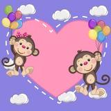 Πίθηκοι εραστών απεικόνιση αποθεμάτων