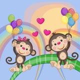 Πίθηκοι εραστών ελεύθερη απεικόνιση δικαιώματος