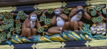 Πίθηκοι ναών στοκ φωτογραφία με δικαίωμα ελεύθερης χρήσης