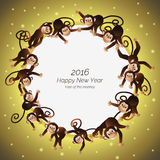 Πίθηκοι σε έναν κύκλο Στοκ φωτογραφία με δικαίωμα ελεύθερης χρήσης