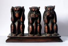 πίθηκοι τρία σοφοί στοκ φωτογραφίες