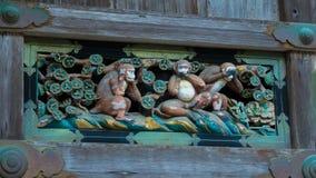 πίθηκοι τρία σοφοί Στοκ Φωτογραφία