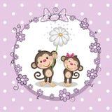 πίθηκοι δύο διανυσματική απεικόνιση