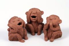 3 πίθηκοι στοκ εικόνες