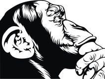 πίθηκος έξυπνος Στοκ φωτογραφίες με δικαίωμα ελεύθερης χρήσης