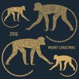 Πίθηκος εμβλημάτων Χριστουγέννων Στοκ Φωτογραφία
