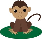 πίθηκος κινούμενων σχεδίων μωρών Στοκ εικόνα με δικαίωμα ελεύθερης χρήσης