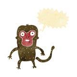 πίθηκος κινούμενων σχεδίων με τη λεκτική φυσαλίδα Στοκ Εικόνα