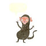 πίθηκος κινούμενων σχεδίων με τη λεκτική φυσαλίδα Στοκ εικόνες με δικαίωμα ελεύθερης χρήσης