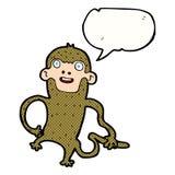 πίθηκος κινούμενων σχεδίων με τη λεκτική φυσαλίδα Στοκ εικόνα με δικαίωμα ελεύθερης χρήσης