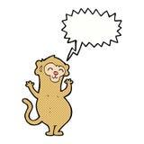 πίθηκος κινούμενων σχεδίων με τη λεκτική φυσαλίδα Στοκ Φωτογραφία