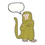 πίθηκος κινούμενων σχεδίων με τη λεκτική φυσαλίδα Στοκ φωτογραφίες με δικαίωμα ελεύθερης χρήσης