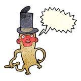 πίθηκος κινούμενων σχεδίων που φορά το τοπ καπέλο με τη λεκτική φυσαλίδα Στοκ φωτογραφίες με δικαίωμα ελεύθερης χρήσης