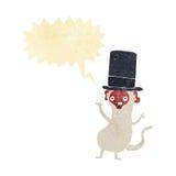 πίθηκος κινούμενων σχεδίων στο τοπ καπέλο με τη λεκτική φυσαλίδα Στοκ Εικόνες