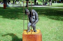 πίθηκος κλουβιών Στοκ εικόνα με δικαίωμα ελεύθερης χρήσης