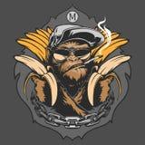 Πίθηκος με τις μπανάνες απεικόνιση αποθεμάτων
