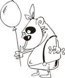 πίθηκος μπαλονιών αέρα ελεύθερη απεικόνιση δικαιώματος