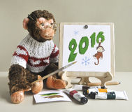 Πίθηκος παιχνιδιών - ζωγράφος Στοκ Εικόνες