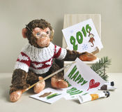 Πίθηκος παιχνιδιών - ζωγράφος Στοκ Εικόνα