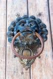 Πίθηκος ρόπτρων πορτών που διαμορφώνεται Στοκ εικόνα με δικαίωμα ελεύθερης χρήσης