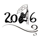 Πίθηκος στο φοίνικα 2016 Διανυσματική απεικόνιση