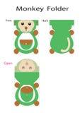 Πίθηκος φακέλλων διανυσματική απεικόνιση