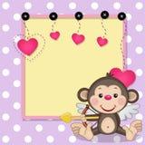 Πίθηκος Cupid με το πλαίσιο απεικόνιση αποθεμάτων